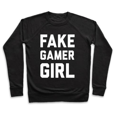 9606e65dadf5 Fake Gamer Girl Crewneck Sweatshirt