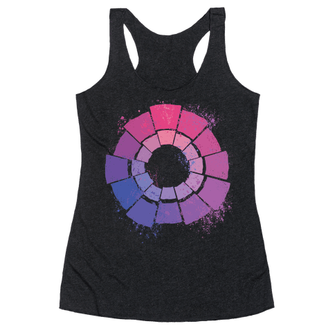 Bi Pride Color Wheel Racerback Tank Top