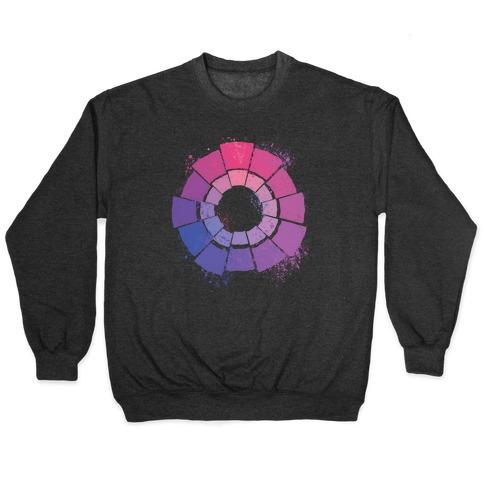 Bi Pride Color Wheel Pullover
