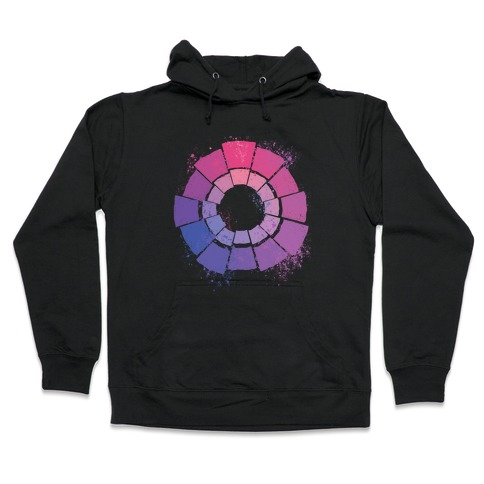 Bi Pride Color Wheel Hooded Sweatshirt