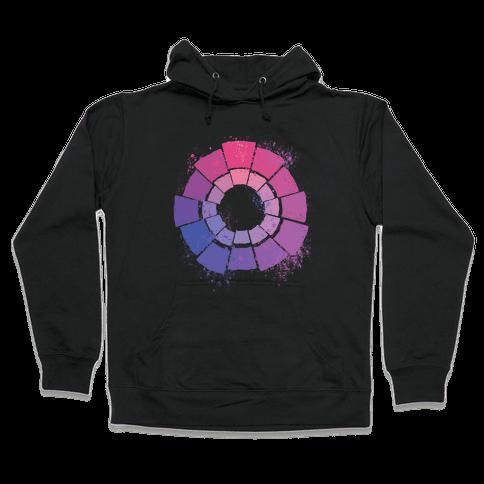 Bi Pride Color Wheel Hooded Sweatshirt