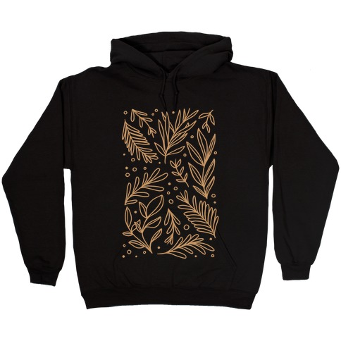 Tan Botanicals Hooded Sweatshirt