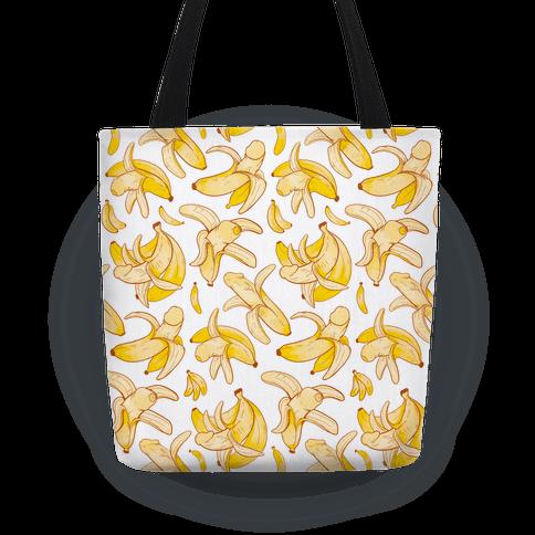 Banana penis pattern Tote