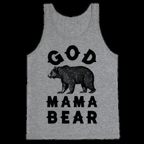 God Mama Bear Tank Top