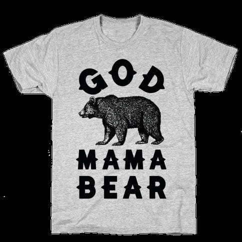 God Mama Bear Mens T-Shirt