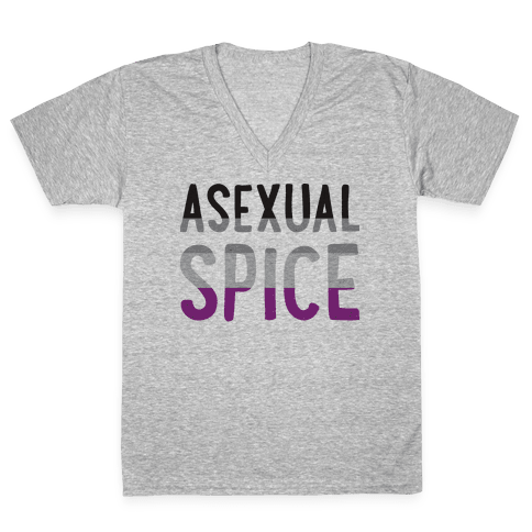 Asexual Spice V-Neck Tee Shirt