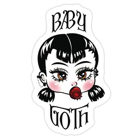 Baby Goth Die Cut Sticker