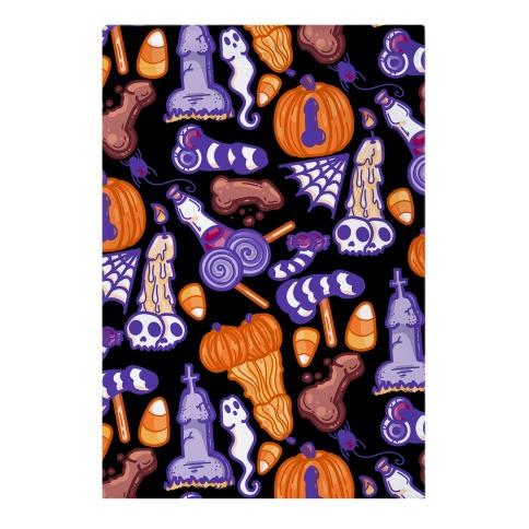 Halloweenies Pattern Garden Flag