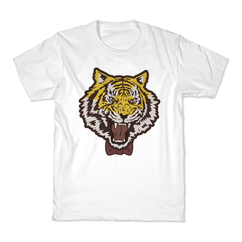 Tiger in a Bow Tie Kids T-Shirt