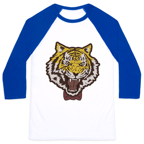 Tiger in a Bow Tie Baseball Tee