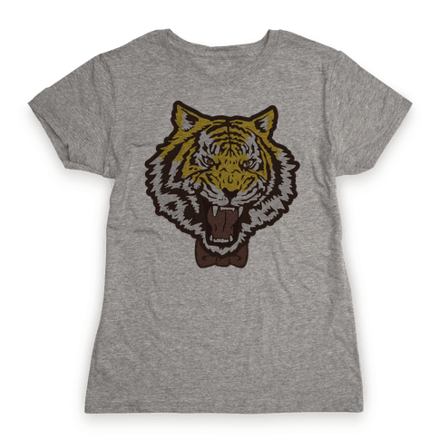 Tiger in a Bow Tie Womens T-Shirt