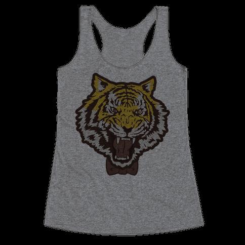 Tiger in a Bow Tie Racerback Tank Top