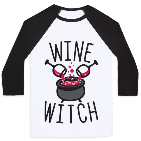 Wine Witch Baseball Tee