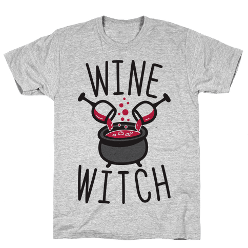 Wine Witch Mens T-Shirt
