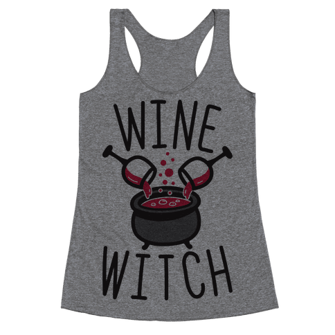 Wine Witch Racerback Tank Top