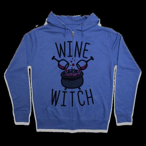 Wine Witch Zip Hoodie