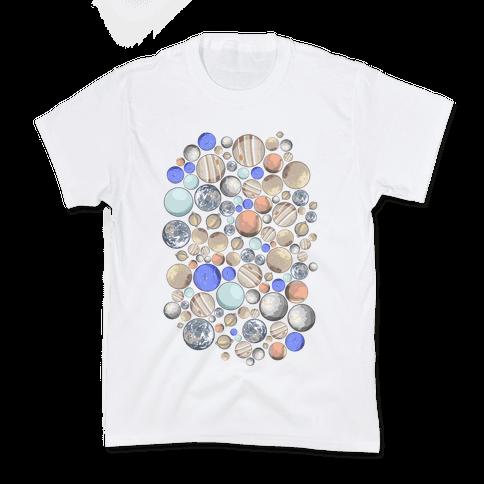 Planets Pattern Kids T-Shirt