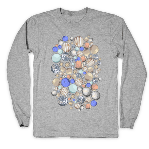 Planets Pattern Long Sleeve T-Shirt