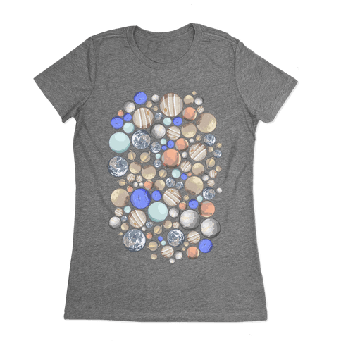 Planets Pattern Womens T-Shirt