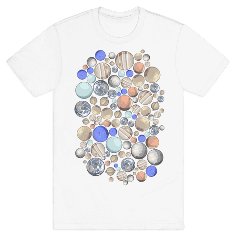 Planets Pattern Mens/Unisex T-Shirt