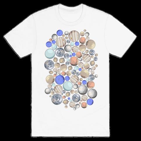 Planets Pattern Mens/Unisex T-Shirt