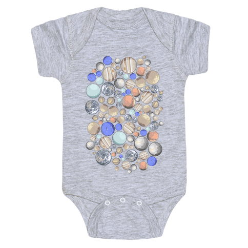 Planets Pattern Baby One-Piece