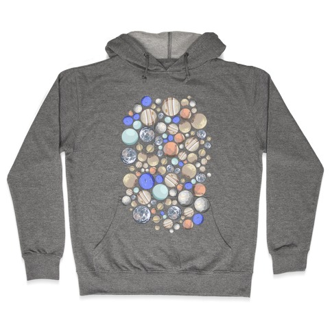 Planets Pattern Hooded Sweatshirt
