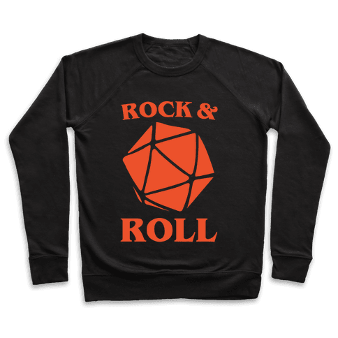Rock and Roll D & D Parody White Print Pullover