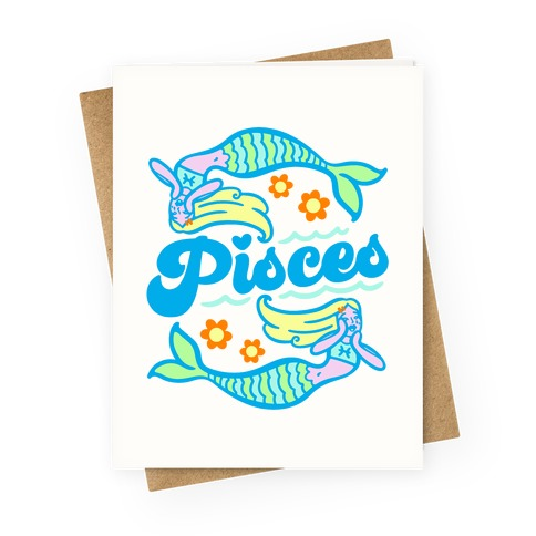 90's Aesthetic Pisces Greeting Card