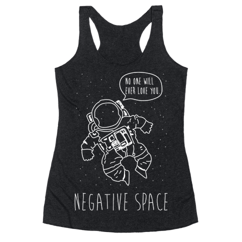 NEgative Space Racerback Tank Top