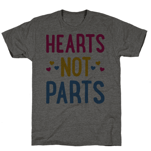 Hearts Not Parts (Pansexual) Mens T-Shirt