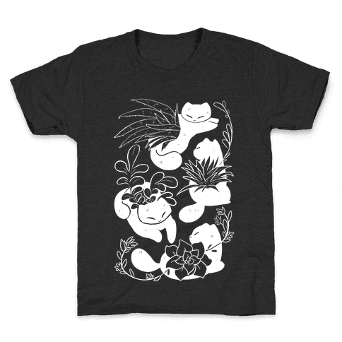 Succulent Cats Kids T-Shirt