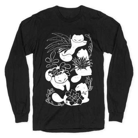 Succulent Cats Long Sleeve T-Shirt