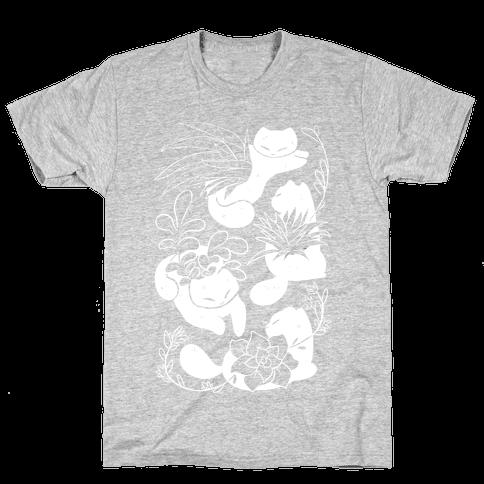 Succulent Cats Mens T-Shirt