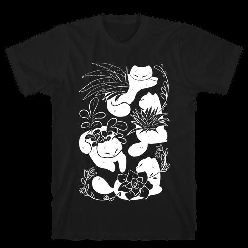 Succulent Cats Mens/Unisex T-Shirt