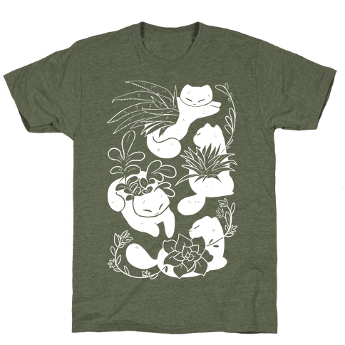 Succulent Cats Mens T-Shirt