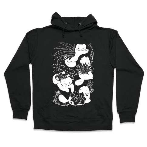 Succulent Cats Hooded Sweatshirt