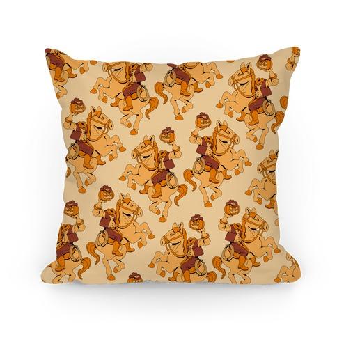 Headless Cowboy Pattern Pillow