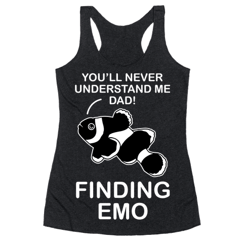 Finding Emo Racerback Tank Top