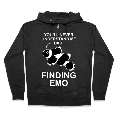 Finding Emo Zip Hoodie