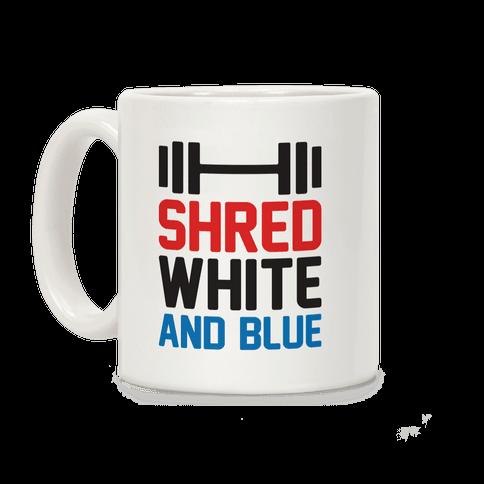 Shred White And Blue Coffee Mug