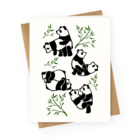 Pandas in Various Sexual Positions Greeting Card