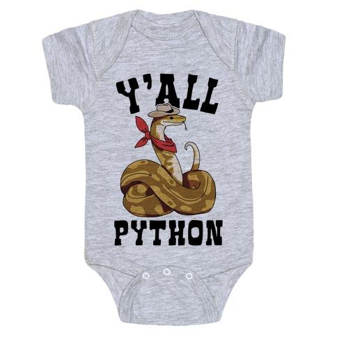 Y'all Python Baby Onesy