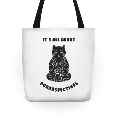 It's All About Purrrspectives (white) Tote
