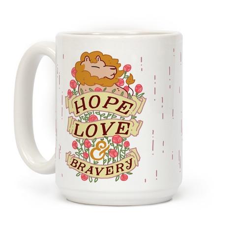 Hope Love & Bravery Coffee Mug