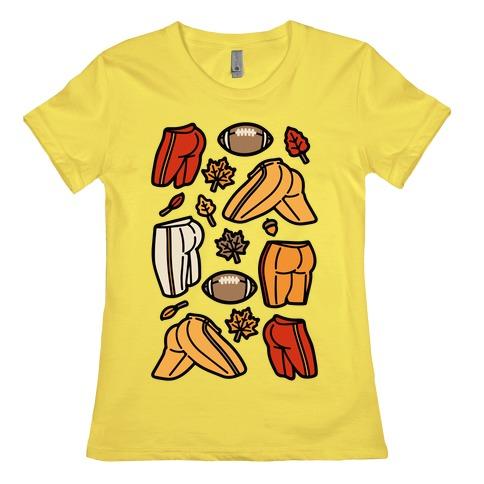 Fall Football Butts  Womens T-Shirt