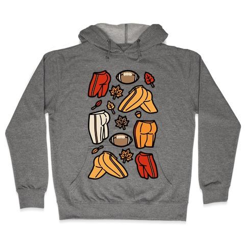 Fall Football Butts  Hooded Sweatshirt