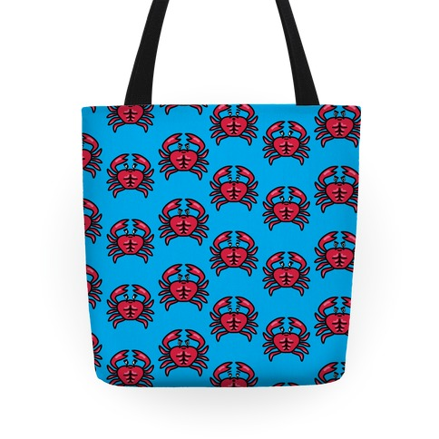 Crabs with Abs Pattern Tote