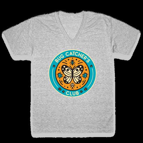 Bug Catcher's Club V-Neck Tee Shirt