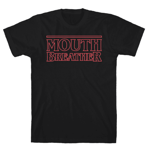 Mouth Breather Parody (Red) Mens T-Shirt
